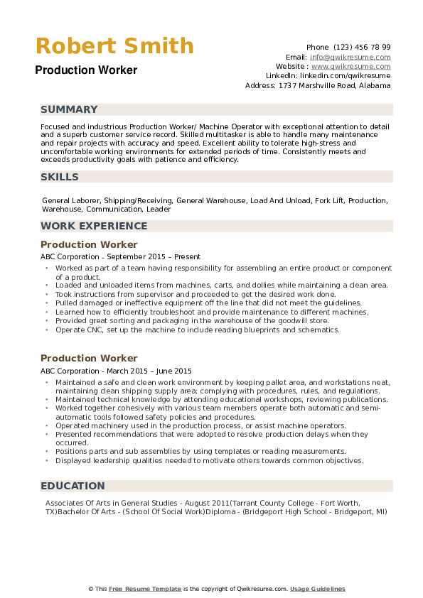 production worker resume samples qwikresume summary examples for pdf healthcare Resume Resume Summary Examples For Production Worker