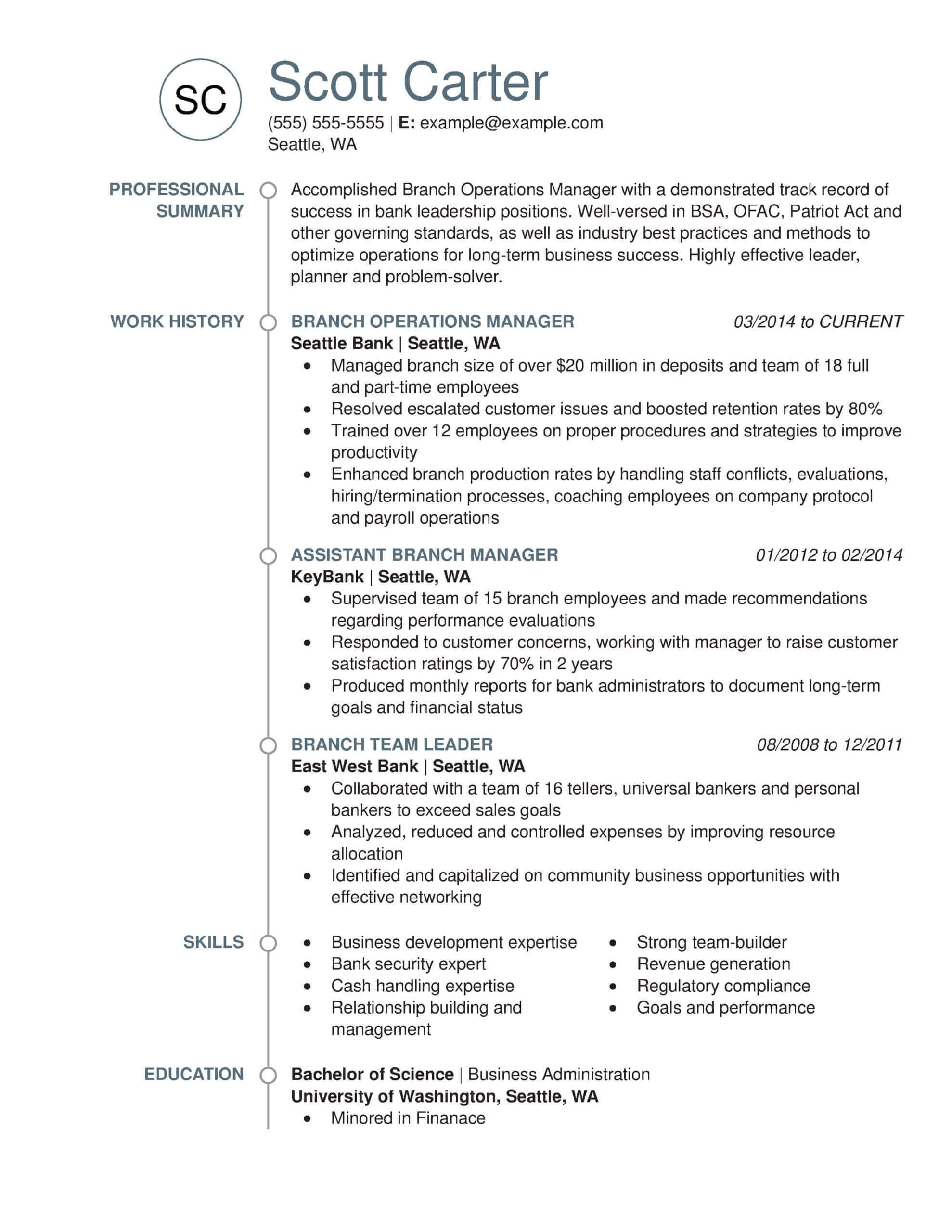 professional banking resume examples livecareer universal banker job description for Resume Universal Banker Job Description For Resume
