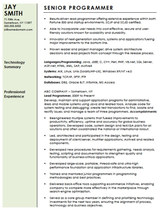 professional computer programmer resume template templates senior cnc should you include Resume Senior Cnc Programmer Resume