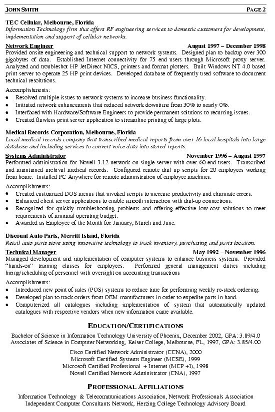 professional network engineer resume sample best examples ccna wintel two sided cdl Resume Ccna Network Engineer Resume Sample