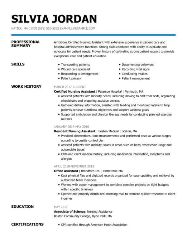 professional nursing resume examples livecareer travel certified assistant strength for Resume Travel Nursing Resume Examples