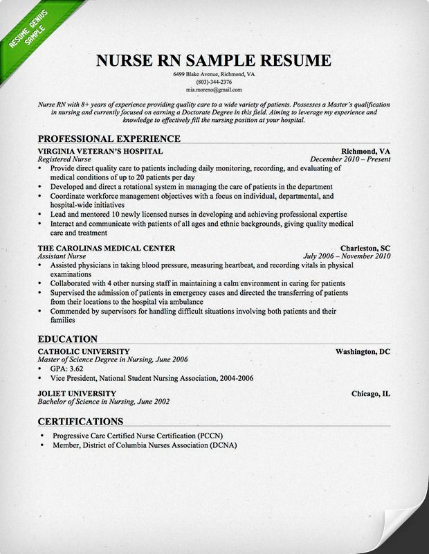 professional registered nurse resume sample template teacher examples rn free law school Resume Rn Resume Template Free
