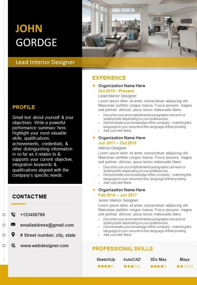 professional resume cv template with skills summary presentation powerpoint diagrams Resume Skills Summary For Resume