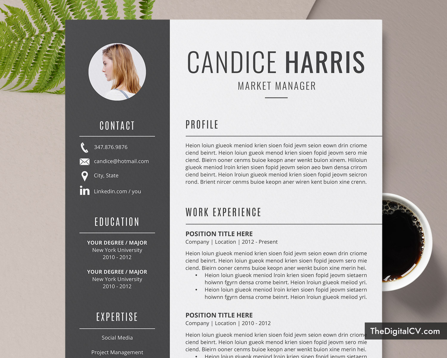 professional resume template for ms word clean cv design cover letter modern format Resume Creative And Professional Resume