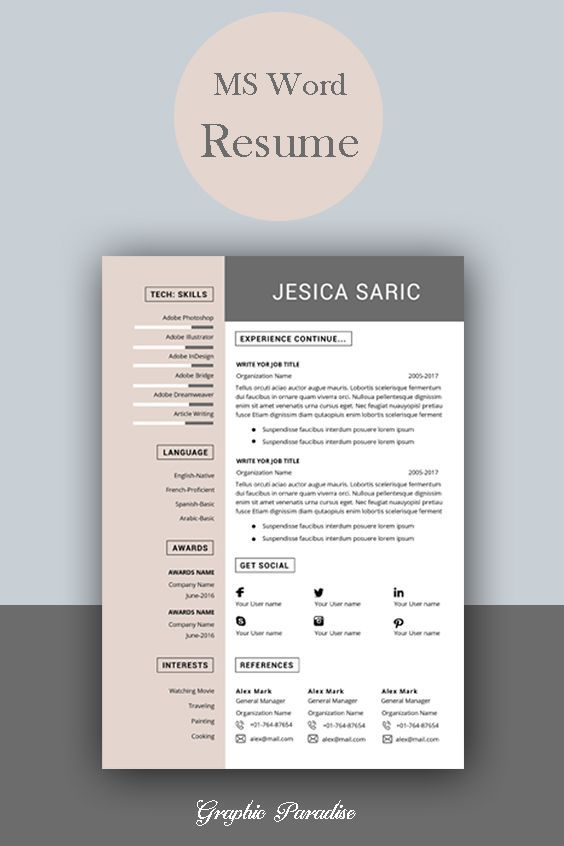 professional resume template instant word cv curriculum vitae cover letter modern free Resume Contemporary Resume Templates Free Word