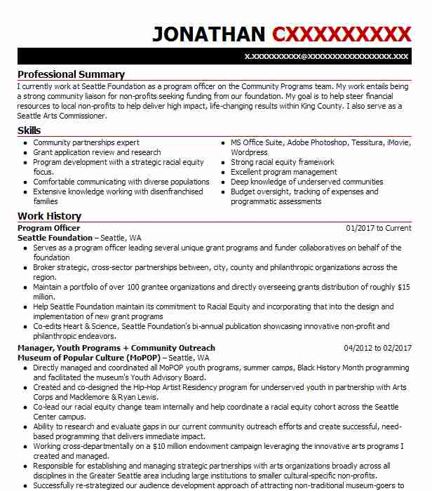 program officer resume example unicef portland nations beginner examples apparel product Resume United Nations Resume Example