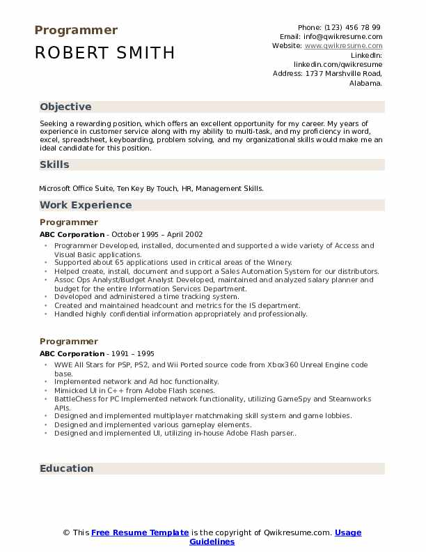programmer resume summary entry level security guard objective examples for team leader Resume Senior Cnc Programmer Resume
