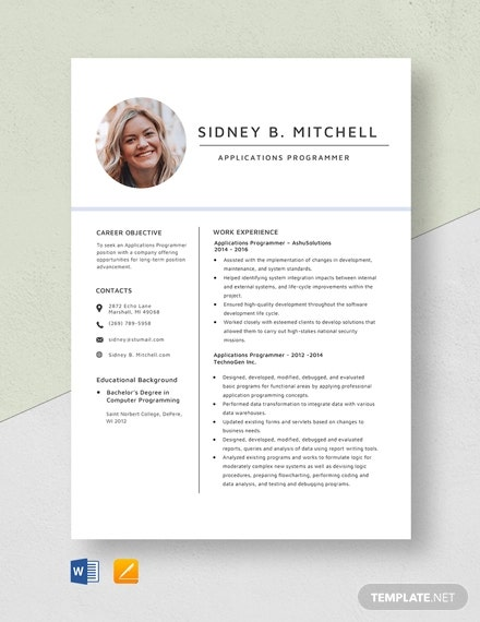 programmer resume templates excel pdf free premium application words for customer service Resume Excel Programmer Resume