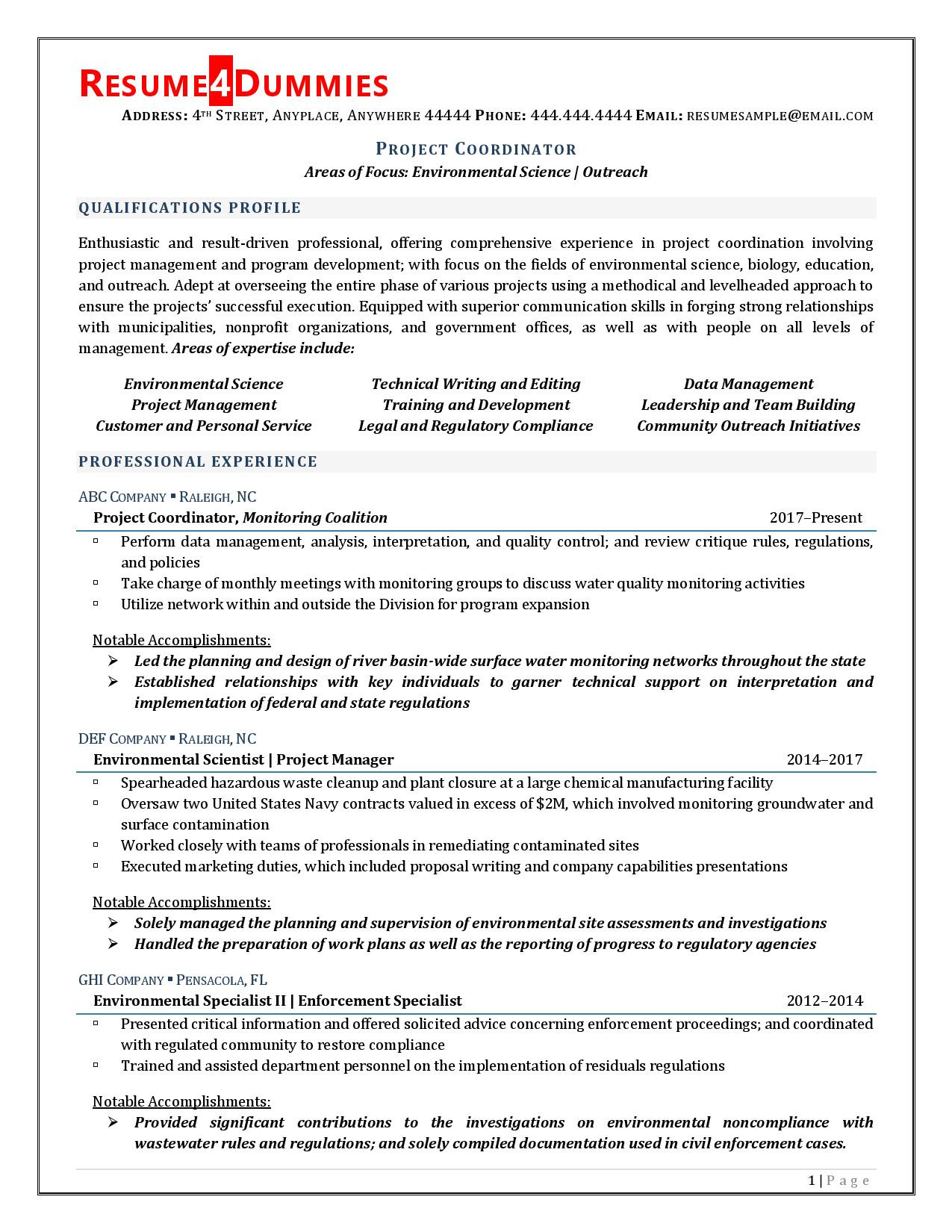 project coordinator resume example and tips you should know program stna objective Resume Program Coordinator Resume