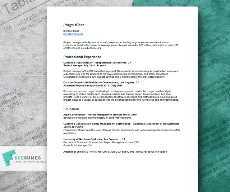 project manager resume example that help you craft your best job application freesumes Resume Construction Project Manager Resume Examples