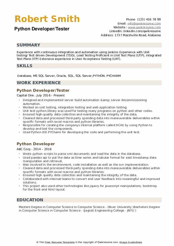 python developer resume samples qwikresume best projects for pdf chief executive officer Resume Best Python Projects For Resume