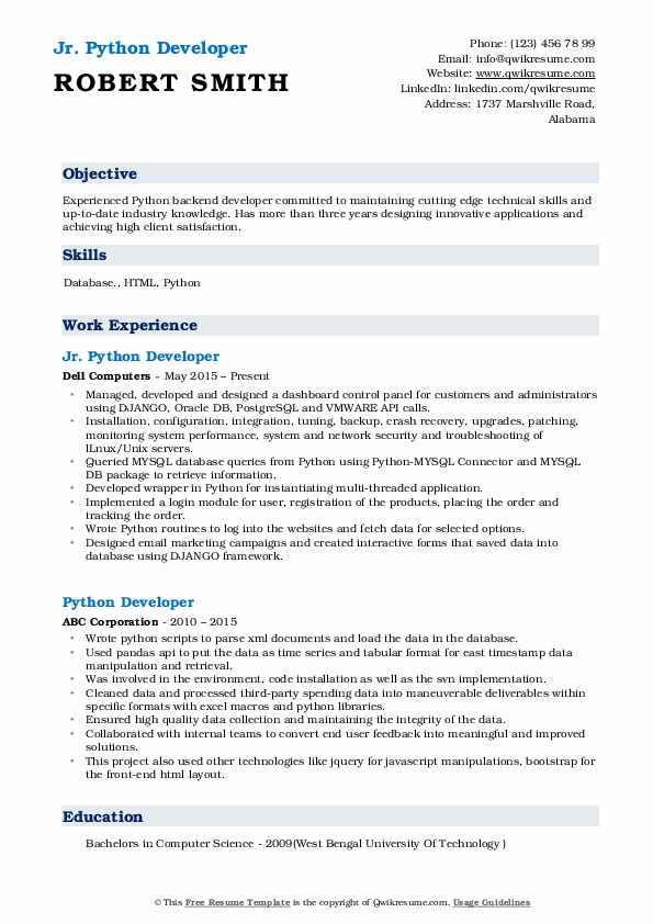 python developer resume samples qwikresume pdf jewelry manager hobbies that look good on Resume Python Developer Resume