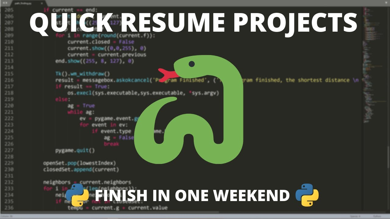 python resume projects you can finish in weekend best for chief executive officer finder Resume Best Python Projects For Resume