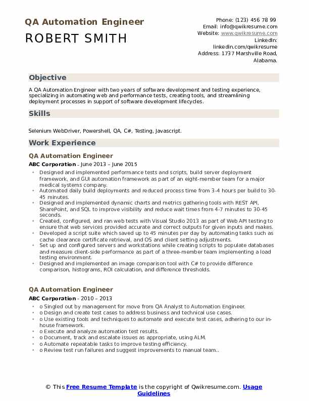 qa automation engineer resume samples qwikresume jmeter experience pdf ios developer year Resume Jmeter Experience Resume