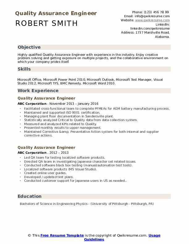 quality assurance engineer resume samples qwikresume software pdf objective for finance Resume Software Quality Assurance Engineer Resume