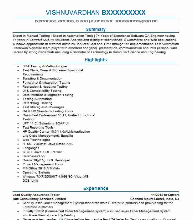 quality assurance tester resume example ubs bank brooklyn new banking projects for Resume Banking Projects For Testing Resume