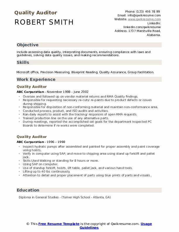 quality auditor resume samples qwikresume career objective for pdf change office manager Resume Career Objective For Auditor Resume