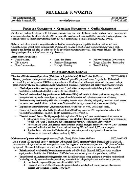 quality manager resume example military project management exbc26a accomplishment based Resume Military Project Management Resume
