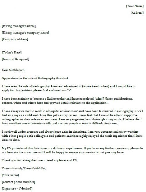 radiography assistant cover letter example lettercv training resume photographer sample Resume Training Assistant Resume Cover Letter