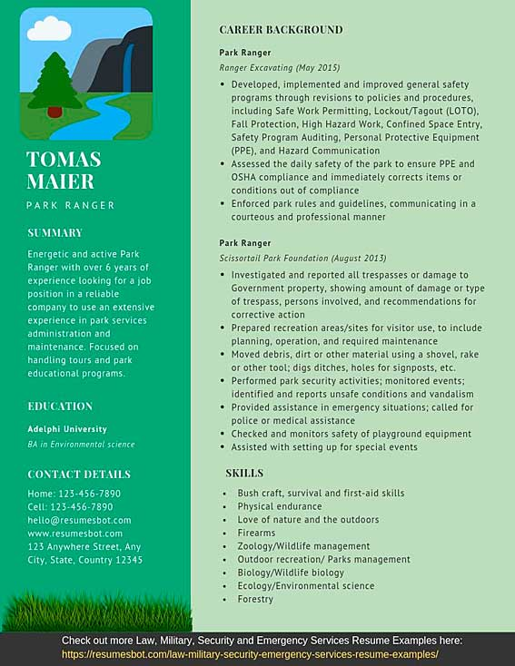 ranger resume samples and tips pdf templates resumes bot forestry example preparing cover Resume Forestry Resume Example