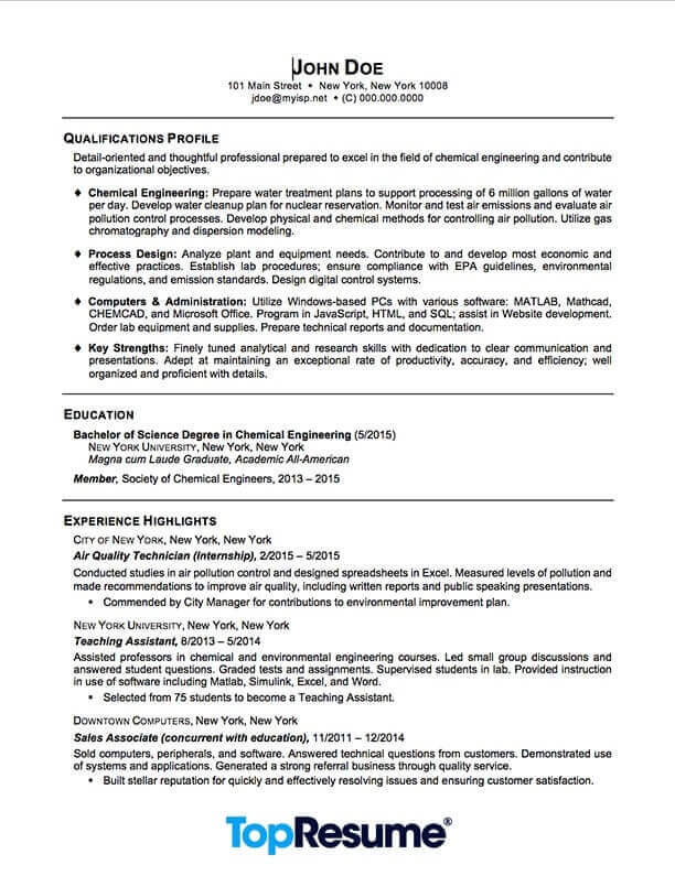 recent graduate resume sample professional examples topresume college example and writing Resume College Graduate Resume Example And Writing Tips