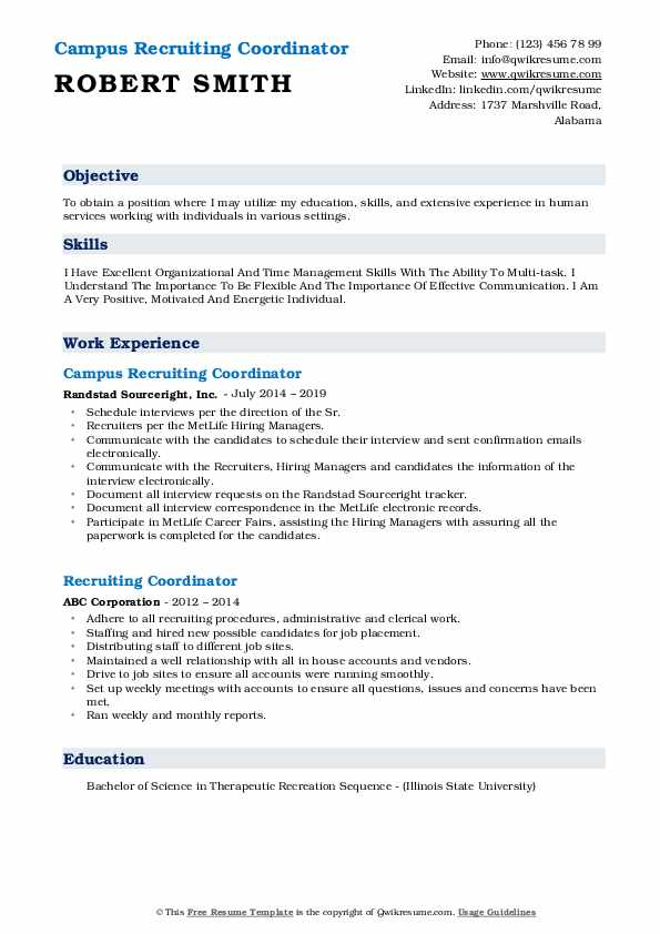 recruiting coordinator resume samples qwikresume pdf value proposition examples sample Resume Recruiting Coordinator Resume