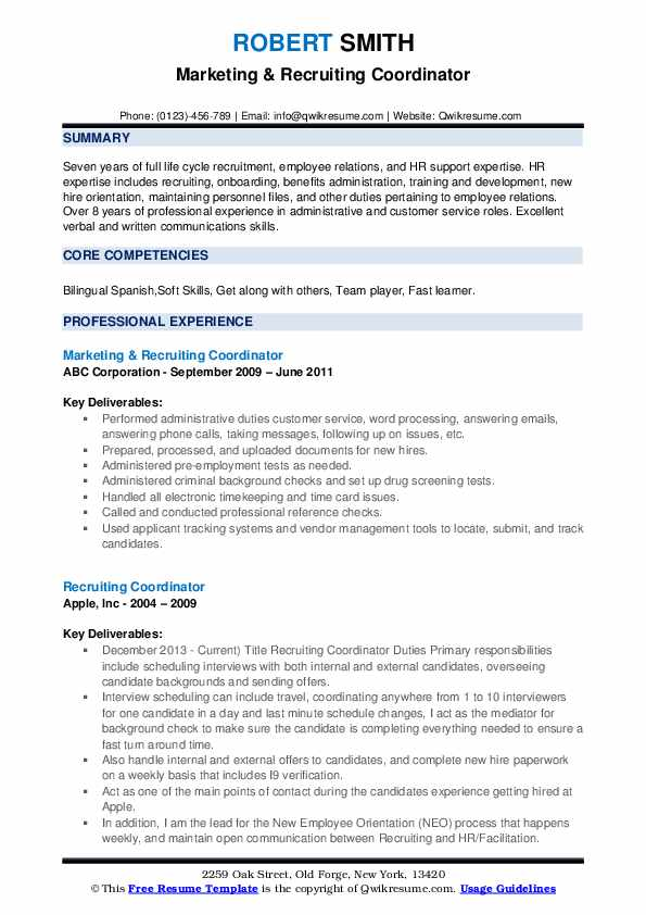 recruiting coordinator resume samples qwikresume pdf work history high school maker fire Resume Recruiting Coordinator Resume