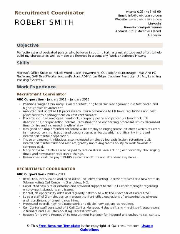 recruitment coordinator resume samples qwikresume recruiting pdf professional engineer Resume Recruiting Coordinator Resume
