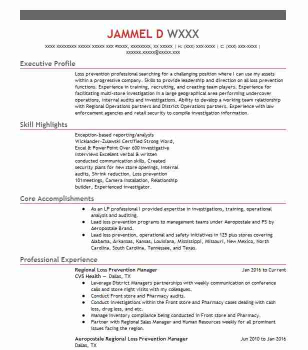 regional loss prevention manager resume example alshaya international trading mesquite Resume Loss Prevention Manager Resume Sample