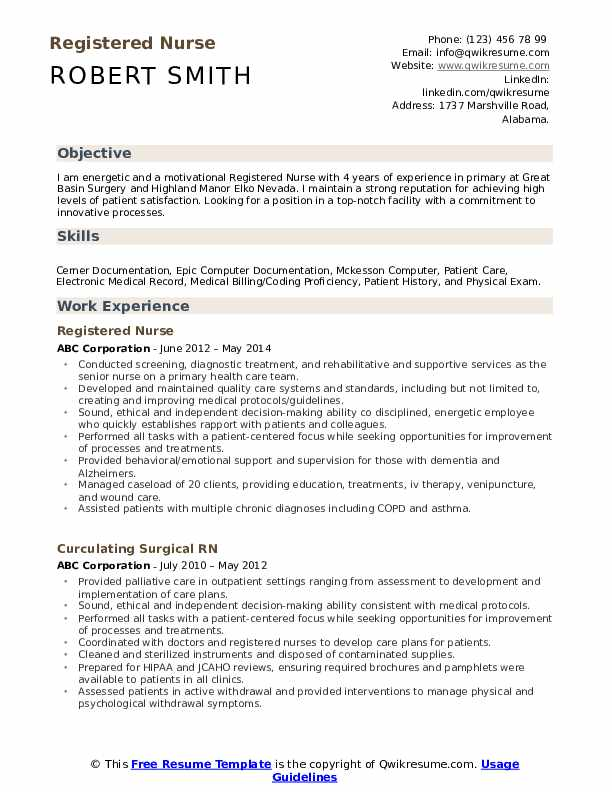 registered nurse resume samples qwikresume rn template free pdf skills teachers should Resume Rn Resume Template Free