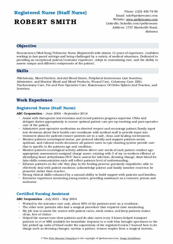 registered nurse resume samples qwikresume telemetry example pdf aerospace quality Resume Telemetry Nurse Resume Example