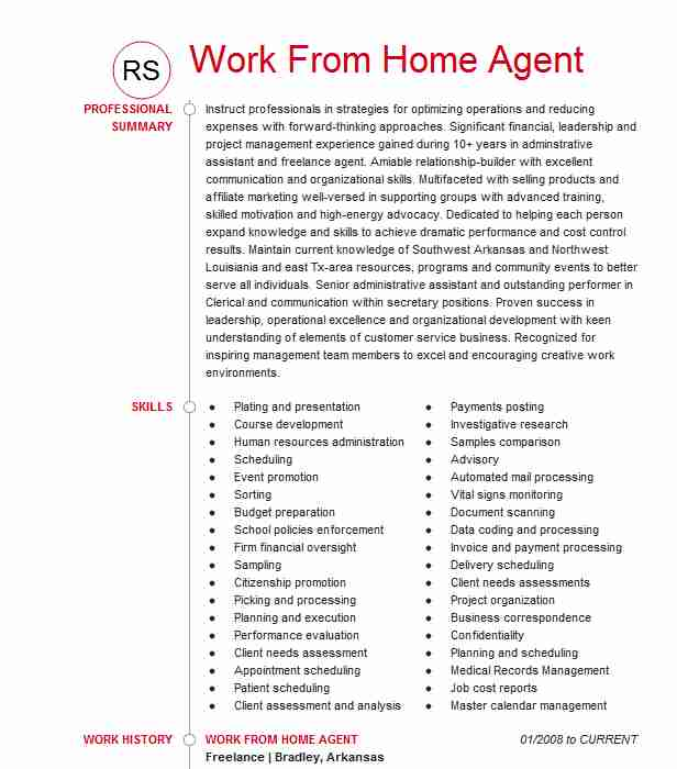 remote work at home agent resume example alorica formally west from skills direct care Resume Work From Home Resume Skills