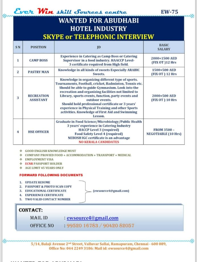 requirement for hotel industry in abudhabi january catering boss resume wa0025 review Resume Catering Camp Boss Resume