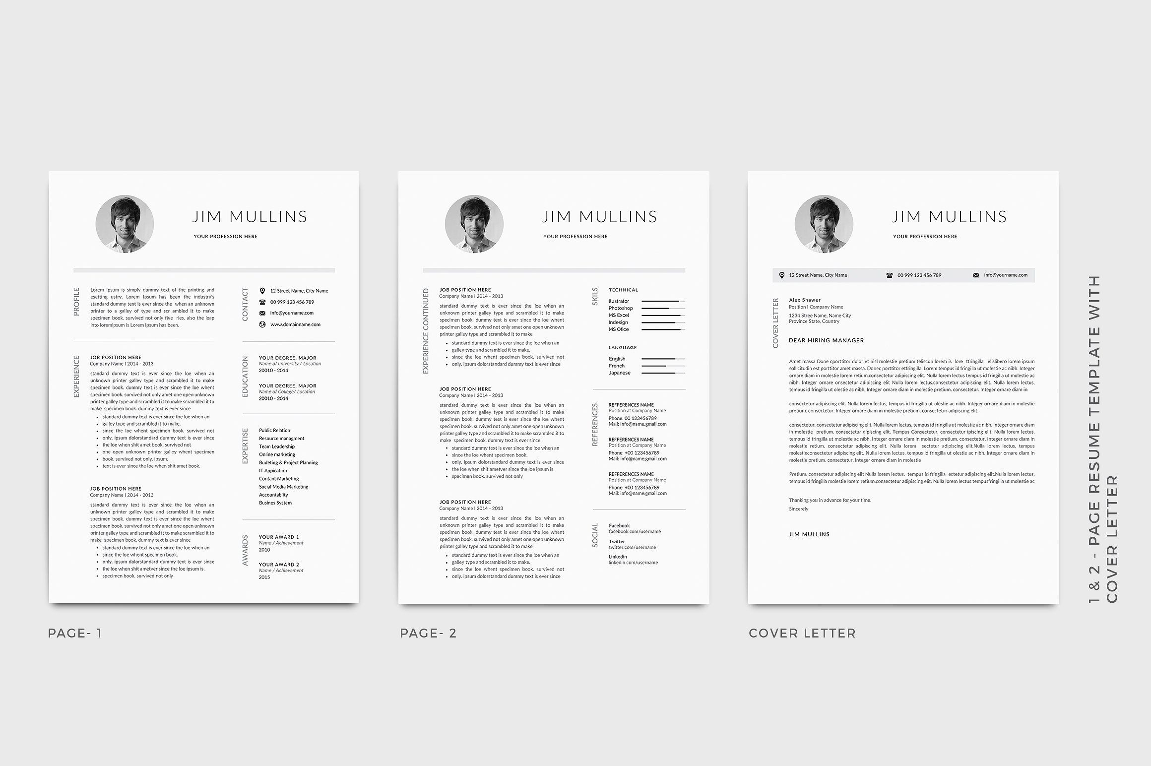 resume cv template typography cpa mba core skills for veteran can write auto technician Resume Typography Resume Template