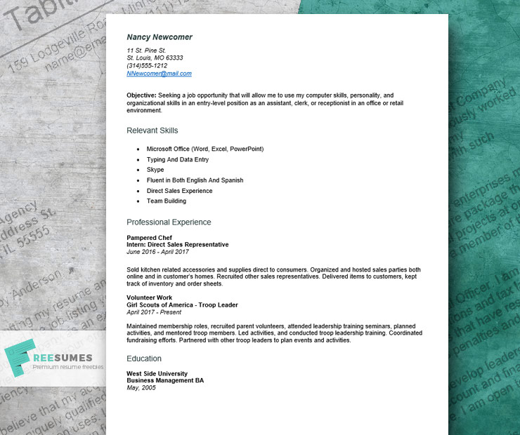 resume example for first job to craft an entry level application beginner sample esl Resume Job Application Beginner First Job Resume Sample