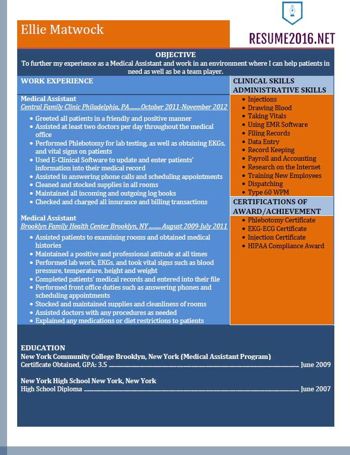 resume example for medical assistant in templates word experienced template music Resume Medical Assistant Resume Templates Word