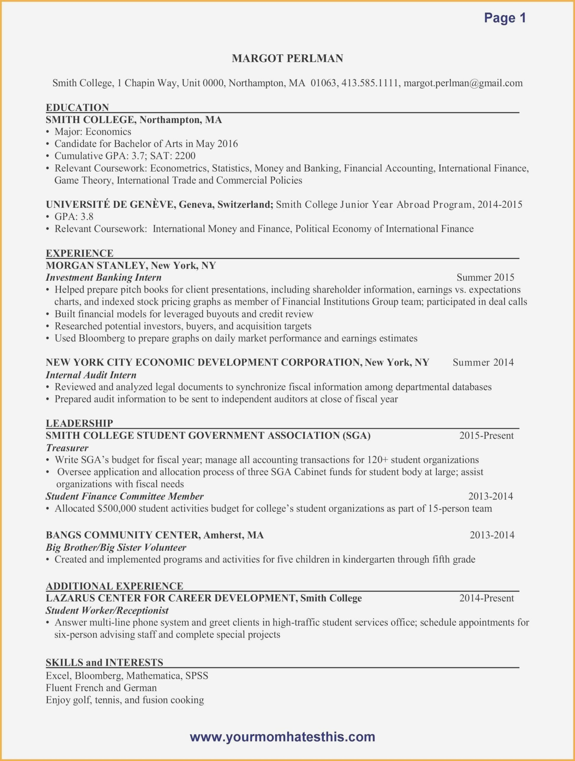 resume example for server awesome examples accounting internship new accountant writing Resume Accounting Resume Writing Services