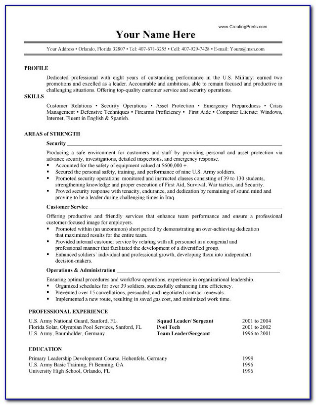 resume example military builder in vincegray2014 leadership examples spouse grammarly Resume Military Leadership Resume Examples