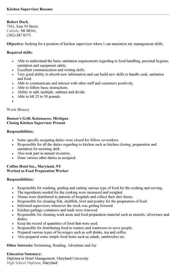 resume examples kitchen free samples responsibilities good reasons for leaving job on Resume Kitchen Hand Responsibilities Resume