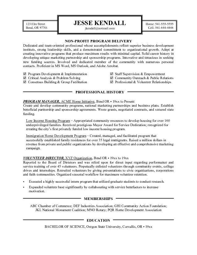 resume examples nonprofit cover letter for example non profit objective builder import Resume Non Profit Resume Objective Examples
