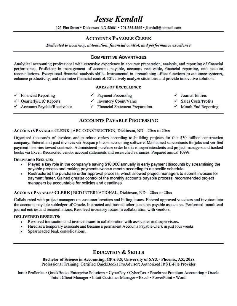 resume examples objective sample job samples accounts payable skills good core Resume Accounts Payable Resume Skills