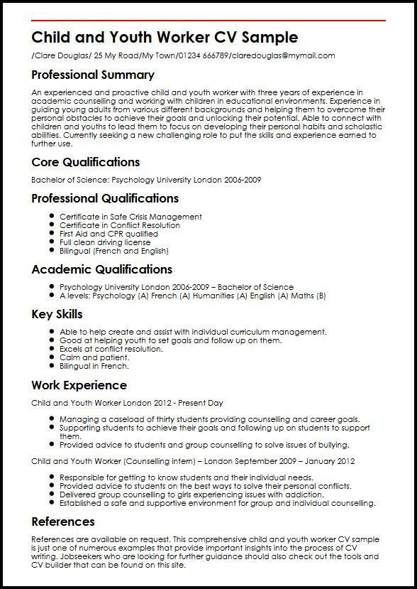 resume examples website is for resources and information youth worker job experience Resume Experience Working With Youth Resume