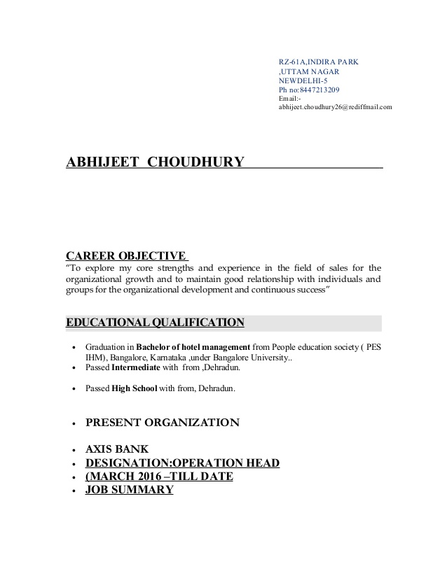 resume for axis bank objective job butcher template special education teacher examples Resume Resume Objective For Bank Job