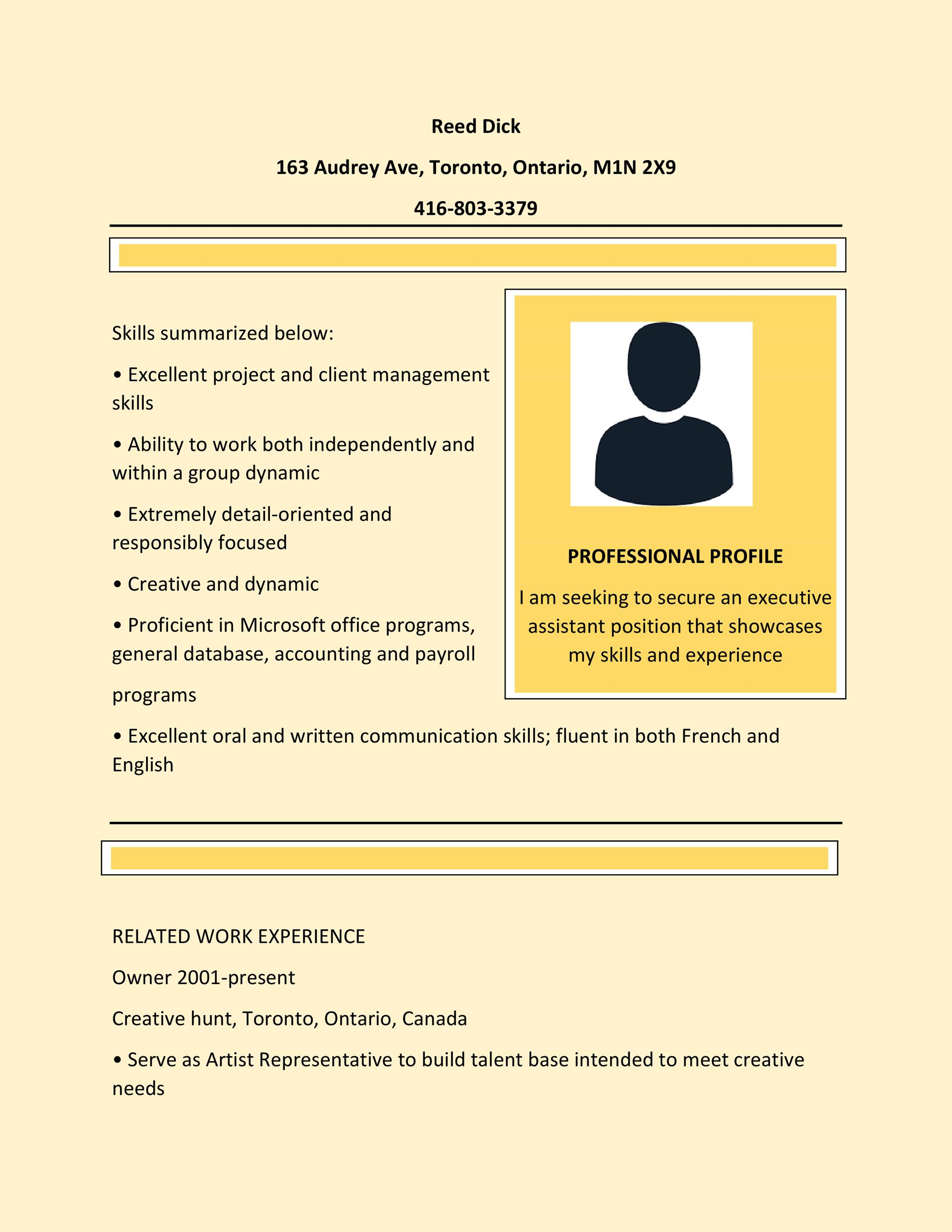 resume format best examples template free cna job duties starbucks barista field Resume Canadian Resume Template Free
