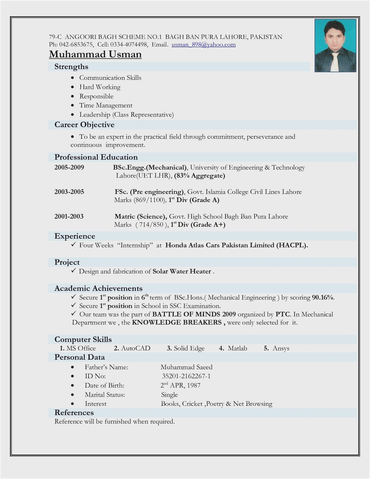 resume format for diploma electrical engineer fresher sample construction industry iu Resume Fresher Electrical Engineer Resume Sample