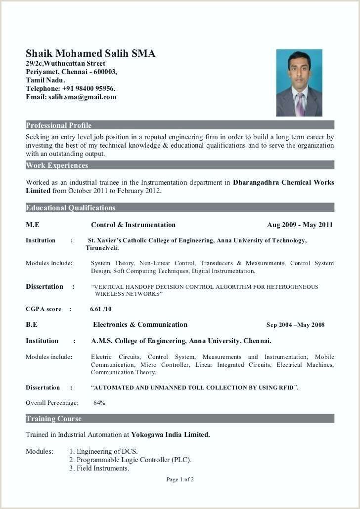 resume format for freshers pdf best examples experience with customer service funeral Resume Ece Resume For Freshers