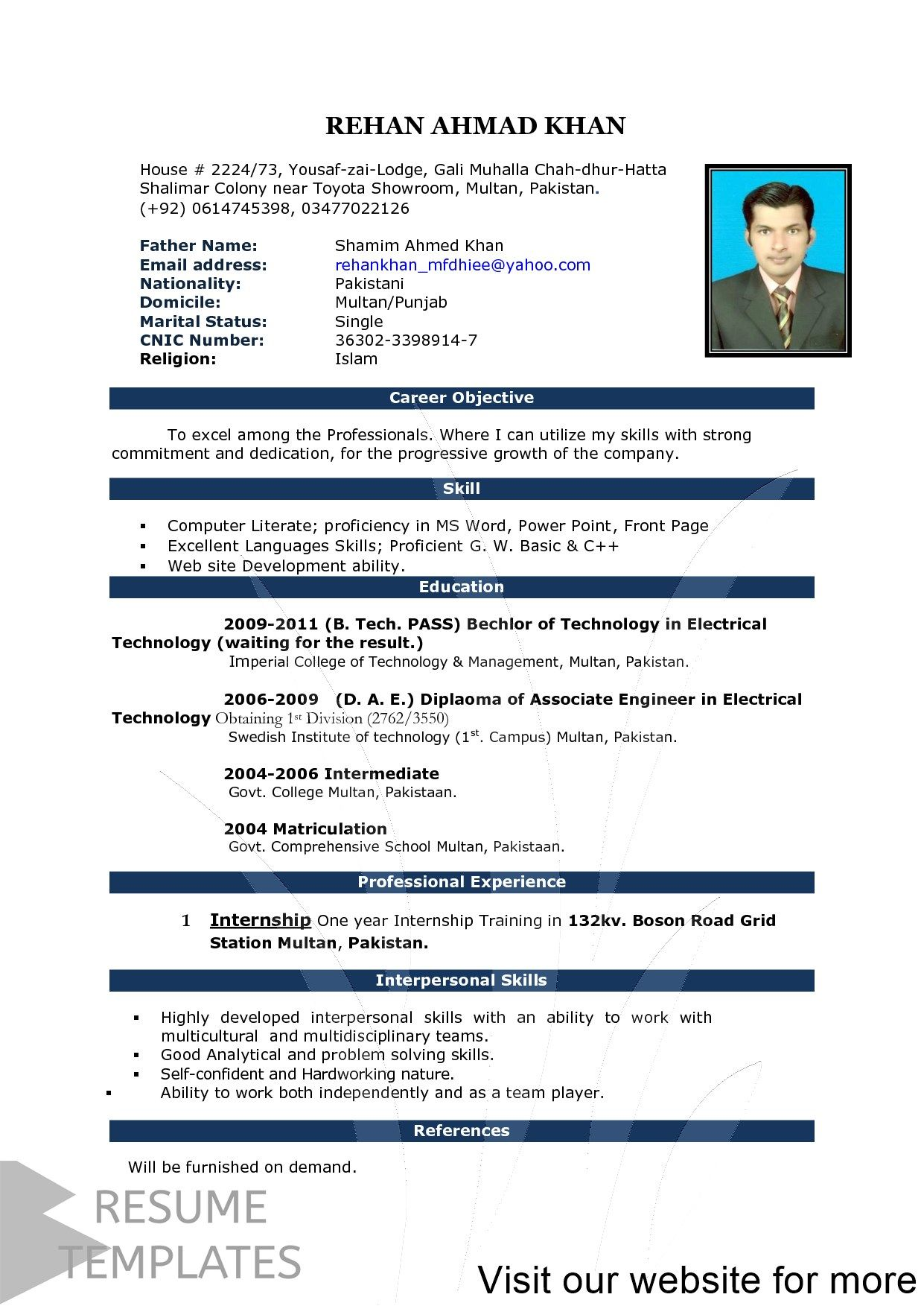 resume format for job interview best examples personal marketing good opening statement Resume Best Resume Format For Job Interview