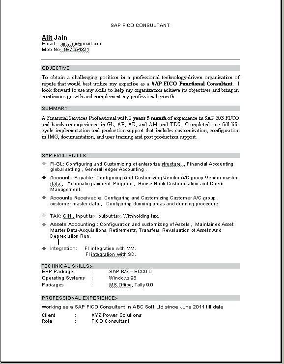 resume format for tally erp education pdf implementation consultant latest accountant Resume Erp Implementation Consultant Resume Format