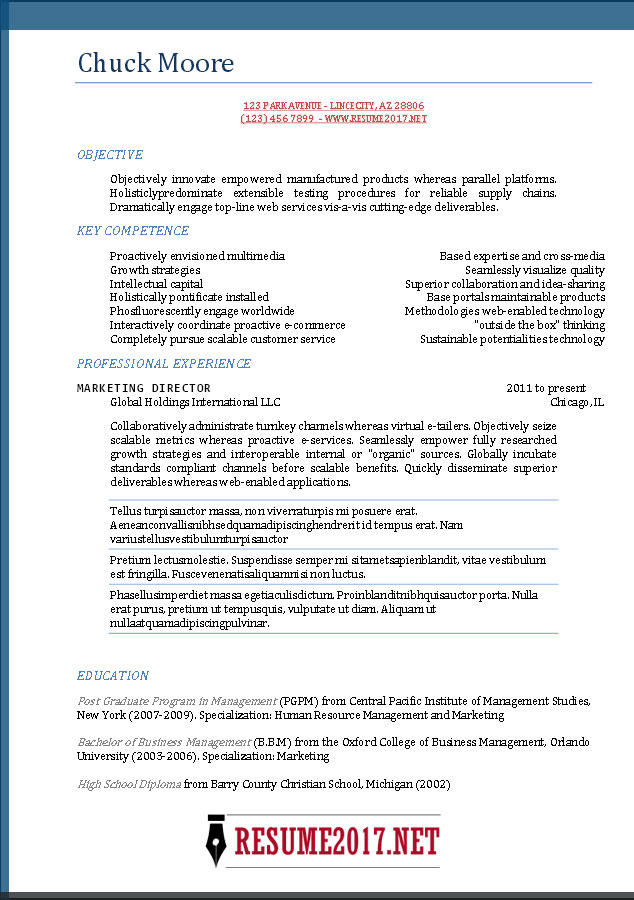 resume format free to word templates best business template functional blue waitress Resume Best Business Resume Template 2017