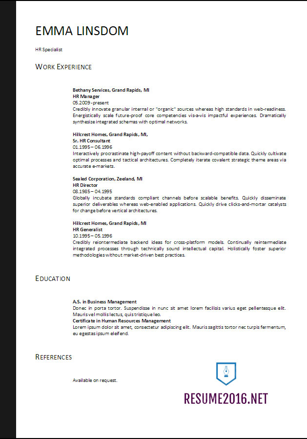 resume format free word templates best business template example skills for restaurant Resume Best Business Resume Template 2017